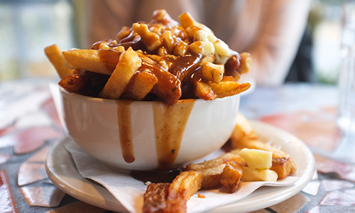 Bowl of Canadian Poutine