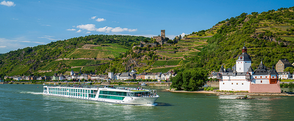 Rhine river cruise virtual travel presentation
